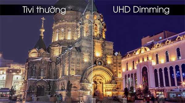 Tivi thường và tivi UHD Dimming