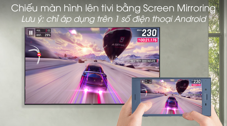 Smart Tivi Sony 4K 49 inch KD-49X7000G - Screen Mirroring