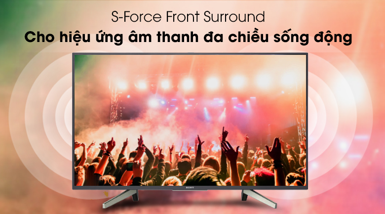 Công nghệ S-Force Front Surround - Android Tivi Sony 49 inch KDL-49W800G Mẫu 2019